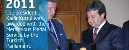 A.Kadir Kurtul TBMM tarafından Üstün Hizmet Ödülü ile onurlandırıldı.
